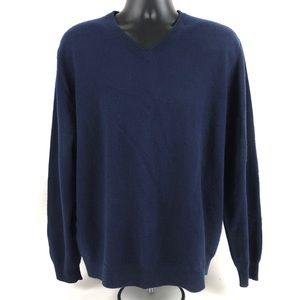 Club Room 100% 2-Ply Cashmere V-Neck Sweater